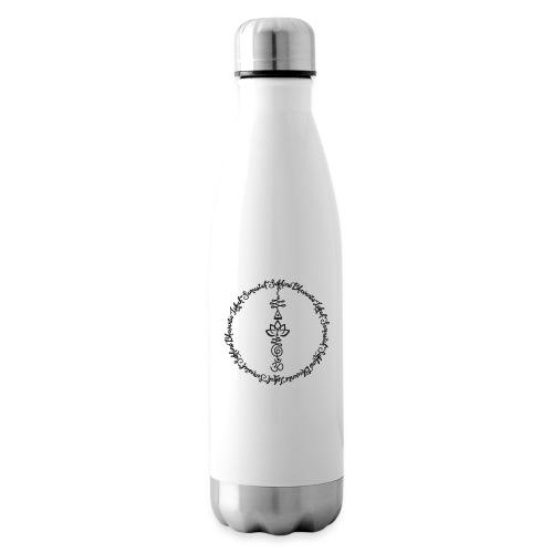 Yoga Mantra Lokah Sukhino Bhavantu Design Tshirt - Isolierflasche