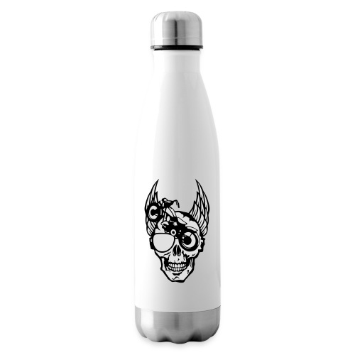 tete mort moto skull aile motard oeil - Bouteille isotherme