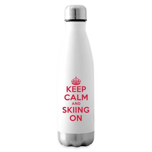 keep calm and skiing on - Isolierflasche