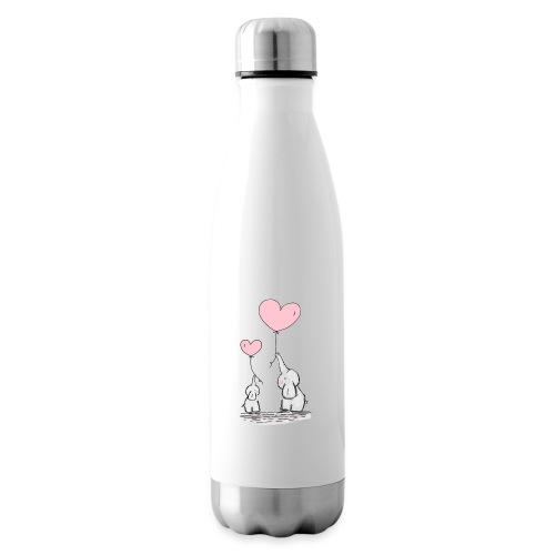 cute elephants - Insulated Water Bottle