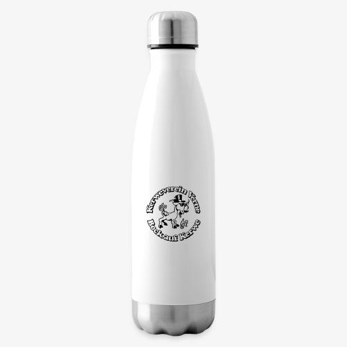 Kerwevereinslogo schwarz-weiss - Isolierflasche