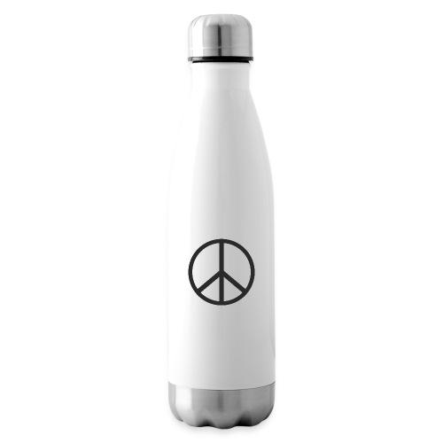 Símbolo de la paz negro - Botella térmica