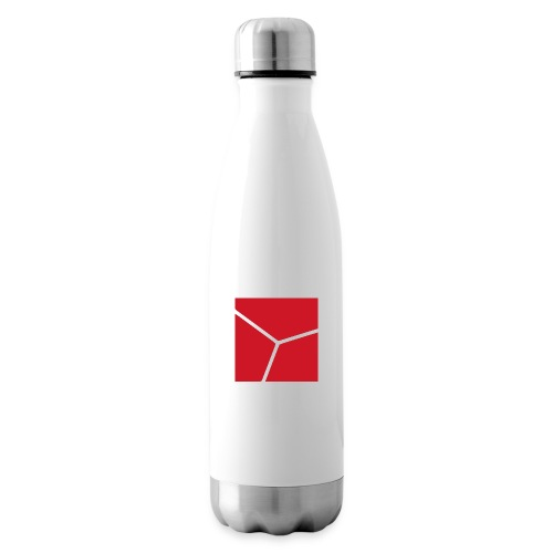 Logo in Rot - Isolierflasche