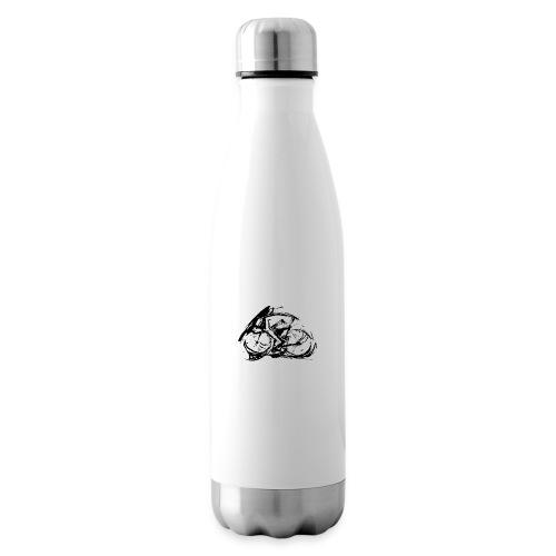 futuristischer radfahrer - Isolierflasche