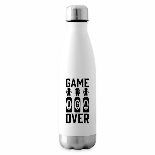 01 Game Over JGA Bierflaschen schwarz - Isolierflasche