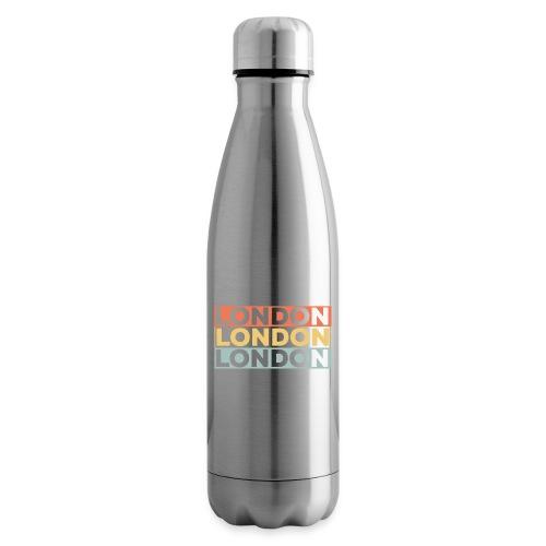 Vintage London Souvenir - Retro Streifen London - Isolierflasche