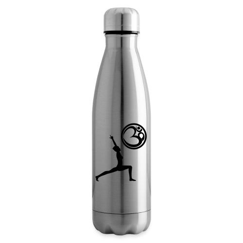 Der Held Yoga Asana Warrior mit OM Symbol Cool - Isolierflasche