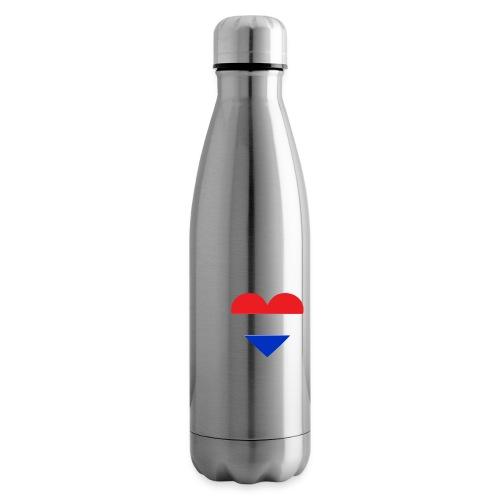 Ik hou van Nederland   Hart met rood wit blauw - Thermosfles