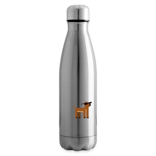 Christmas Xmas Deer Pixel Funny - Insulated Water Bottle