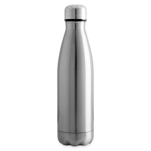 the walking dad white text on black - Insulated Water Bottle
