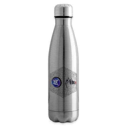 disen o dos canales cubo binario logos delante - Insulated Water Bottle