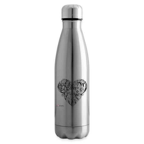MandalaHerz ohne Hintergrund - Isolierflasche