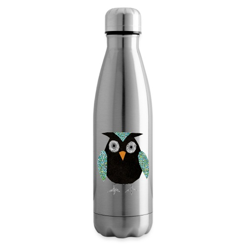 Collage mosaic owl - Insulated Water Bottle