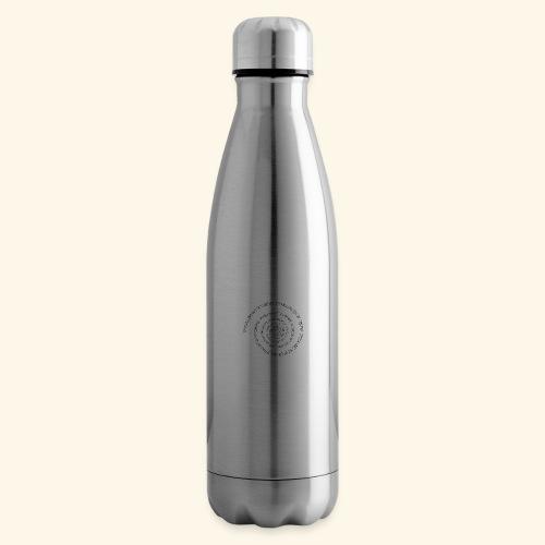 SPIRAL TEXT LOGO BLACK IMPRINT - Insulated Water Bottle