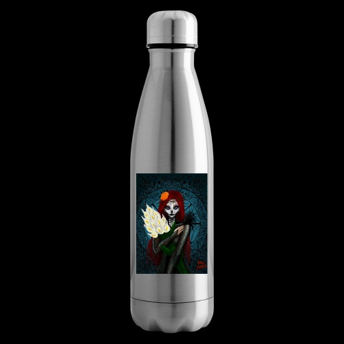 Death and lillies - Insulated Water Bottle