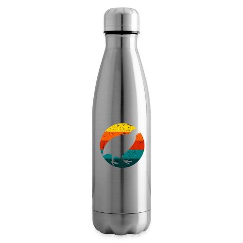 Retro Wachtel Geschenkidee Design Wachteln Logo - Isolierflasche