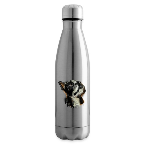 Französische Bulldogge Zeichnung - Isolierflasche