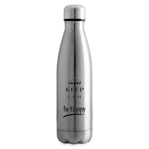 keep_calm and_be_happy-01 - Termica Bottiglia