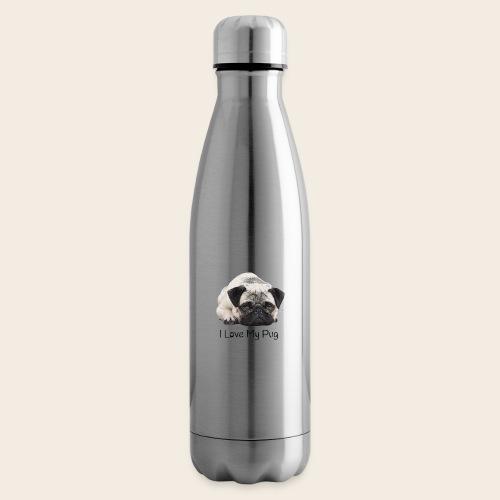 love my pug - Isolierflasche