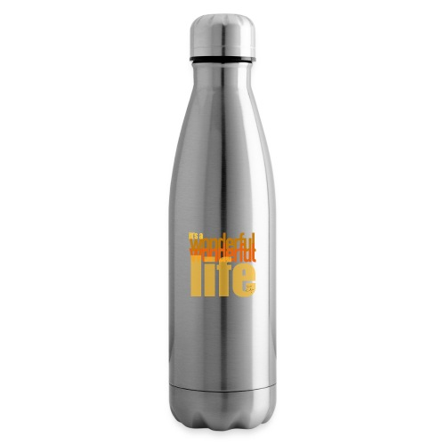 It's a wonderful life beach colours - Insulated Water Bottle