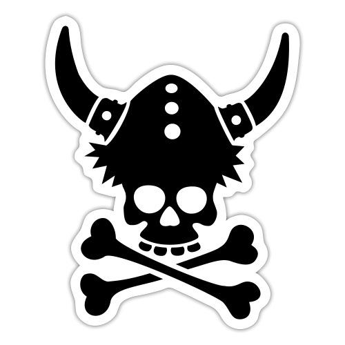 Totenkopf mit Wikingerhelm - Sticker