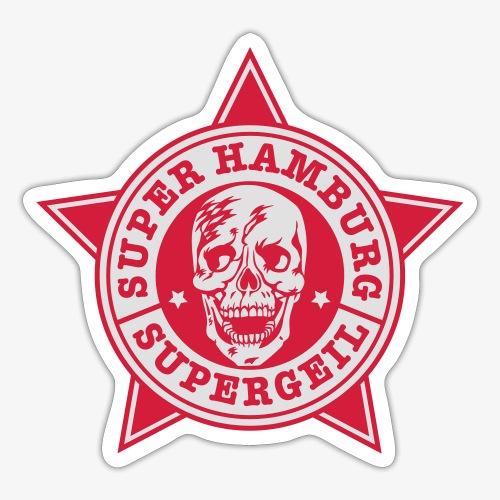 Hamburg Supergeil Totenkopf T-Shirt - Sticker
