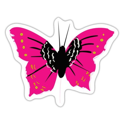 Papillon rose - Autocollant