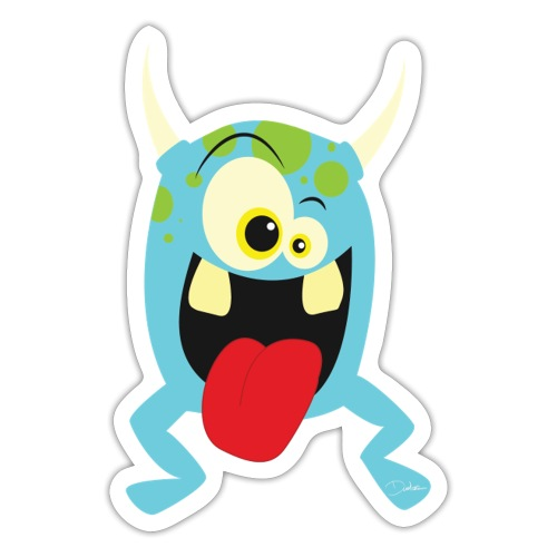 Monster blue - Sticker