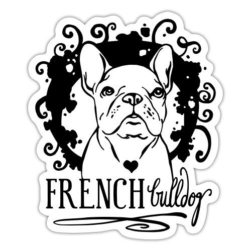French Bulldog Ornamental - Sticker