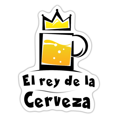 El rey de la cerveza - Pegatina