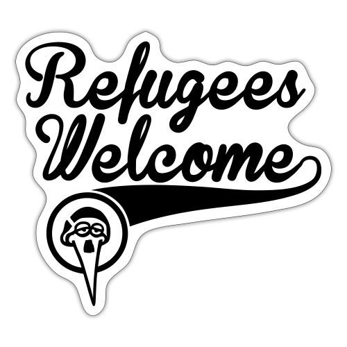 refugees-welcome-storch-h - Sticker