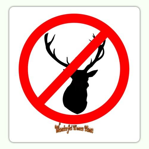 No Reindeer alllowed - Sticker