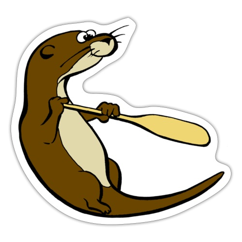 Classic Song of the Paddle otter logo - Sticker