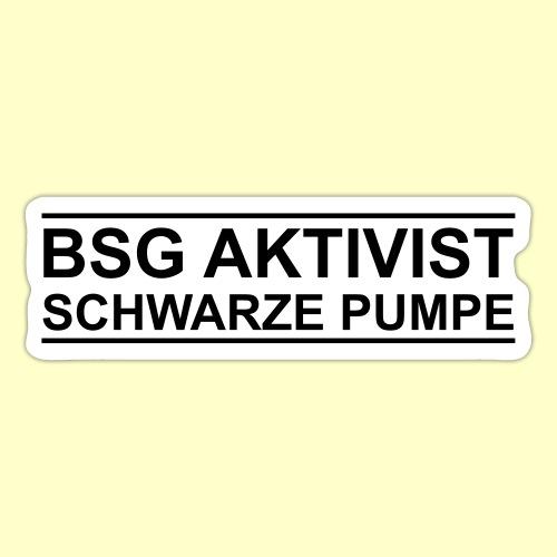BSG Aktivist Schwarze Pumpe - Retro-Schriftzug - Sticker