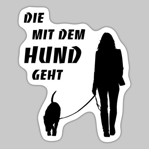 Die mit dem Hund geht 2 - Sticker