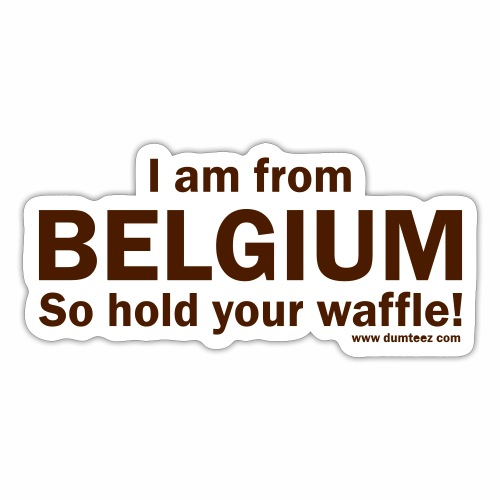 From Belgium - Sticker