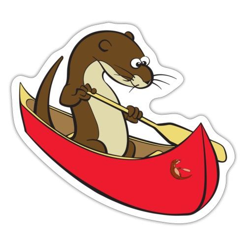 redcanoewithsticker - Sticker