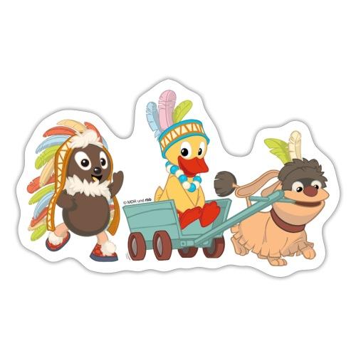 Pittiplatsch Indianerfreunde mit Schnatti & Moppi - Sticker