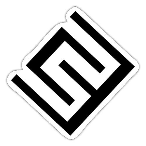 ChrisWhippit Logo svart - Klistermärke