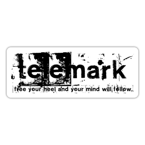 Print Free your heel and your mind will follow - Sticker