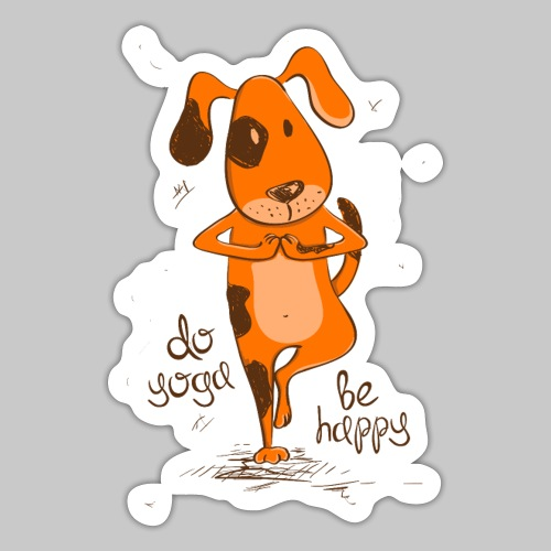 yoga dog - Sticker