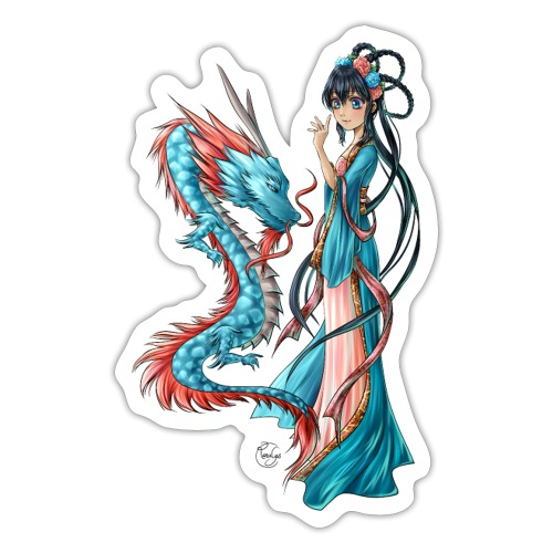 Blue Dragon - Autocollant