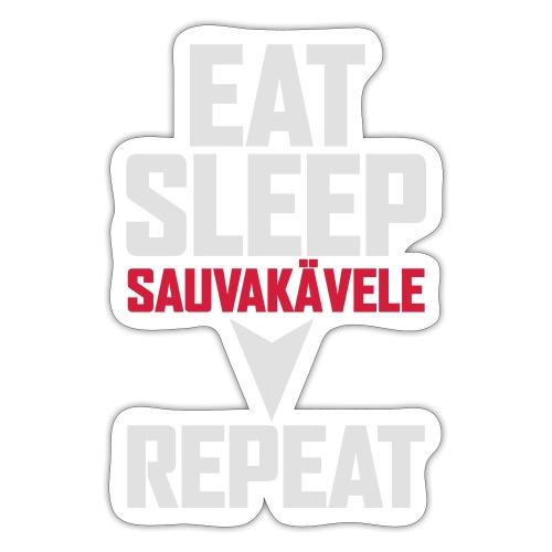 Eat, sleep, sauvakävele, repeat - Tarra