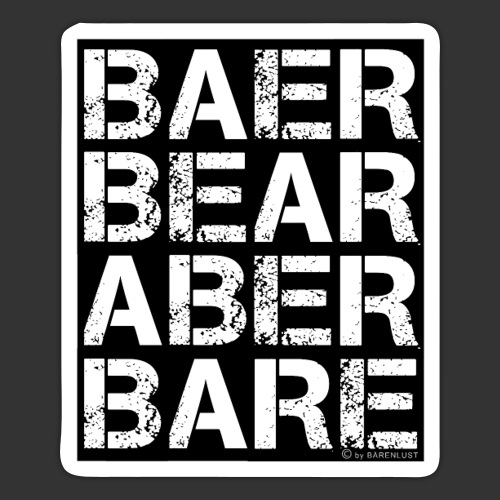 BEAR BARE is your own fun - Sticker