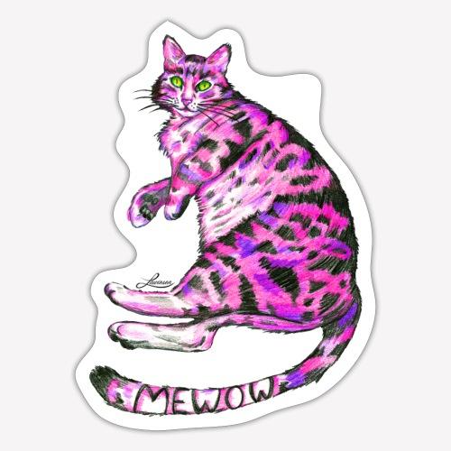 Pink Cat - Sticker