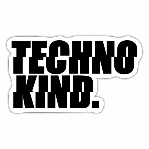 Techno Kind Rave Kultur Berlin Vinyl Progressive - Sticker