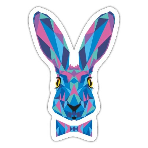 Hase Fliege Feldhase Langohr bunt Kaninchen Löffel - Sticker