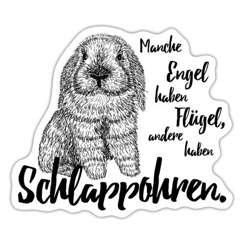 Engel Flügel Schlappohren Kaninchen Zwergwidder - Sticker