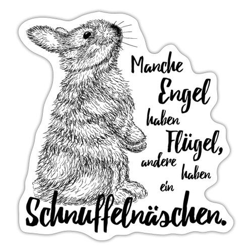 Kaninchen Hasen Zwergkaninchen Engel Liebe - Sticker