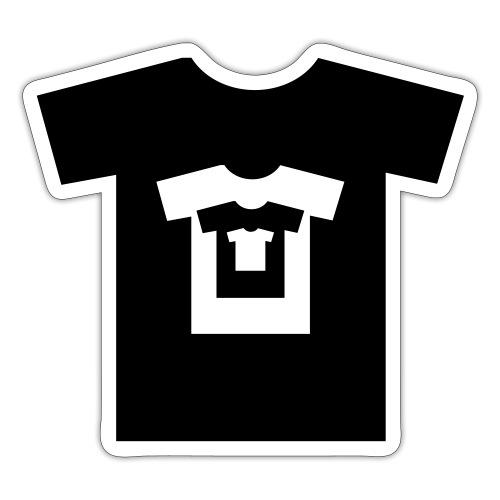 t-shirt récursif - Autocollant